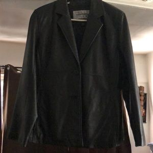 Black Leather jacket (Women's) : WILSONS